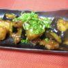 牛ロース、冬瓜、茄子味噌炒め