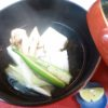 鱧、松茸、豆腐酒蒸し